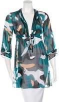 Diane von Furstenberg Embellished Printed Tunic