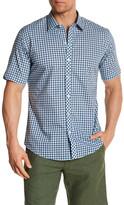 Zachary Prell Floundry Short Sleeve Plaid Trim Fit Shirt