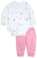 Angel Dear Infant Girls' Fishing Lamb Print Bodysuit & Jogger Set - Sizes Newborn-6 Months