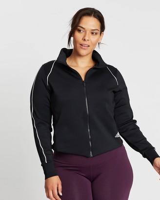 adidas Women's Black Jackets - Style Track Jacket - Size 2X at The Iconic