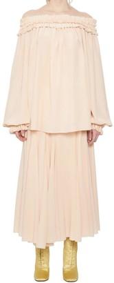 Haider Ackermann Off-The-Shoulder Dress