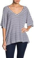 Lucky Brand Stripe Back Strap Knit Shirt