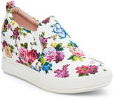 Wanted White Petals Slip On Wedge Sneakers