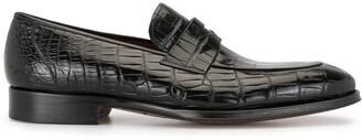 Magnanni Crocodile Leather Loafers
