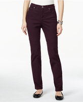 Style&Co. Style & Co. Tummy-Control Colored Wash Straight-Leg Jeans, Only at Macy's
