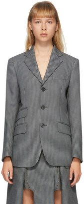 Maison Margiela Black and Grey Double Pocket Blazer