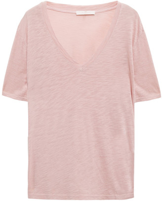7 For All Mankind Melange Slub Cotton And Modal-blend Jersey T-shirt
