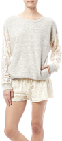 HardTail Forever Forever Lace Sleeve Pullover