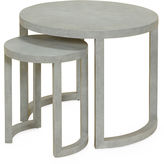Maitland-Smith Grissailles Nesting Tables, Gray Leather