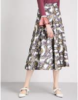 Roksanda Branca embroidered woven skirt