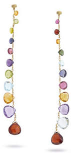 Marco Bicego Paradise Long Degrade Drop Earrings with Mixed Elevated Gemstones