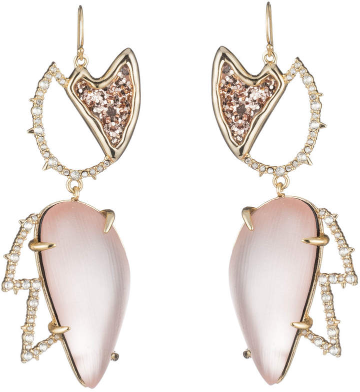 Alexis Bittar Abstract Tulip Glitter Wire Earring