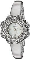 Badgley Mischka Women's Quartz Metal and Alloy Dress Watch, Color:Silver-Toned (Model: BA/1363MPSV)