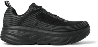 Hoka One One Bondi 6 Rubber-Trimmed Mesh Running Sneakers