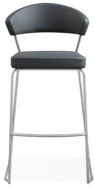 "Mcghee Bar & Counter Stool (Set of 2) Orren Ellis Seat Height: Bar Stool (30"" Seat Height), Upholstery: Gray"