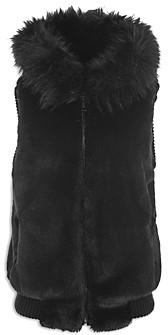 Jocelyn Hooded Faux Fur Bomber Vest