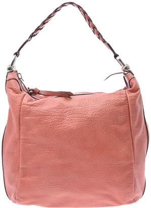 Gucci Orange Leather Bamboo Bar One Shoulder Bag