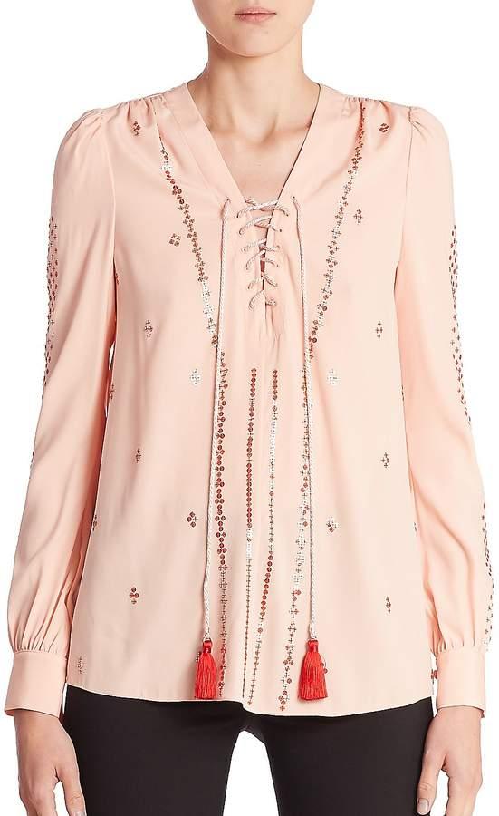Altuzarra Women's Sequin Embellished Blouse