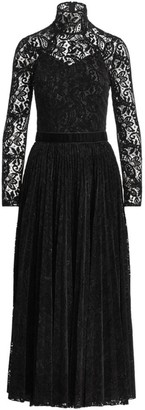 Ralph Lauren Christa Velvet Lace Cocktail Dress