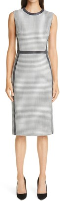 Judith & Charles Picasso Check Sleeveless Dress
