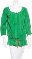Diane von Furstenberg Silk Three-Quarter Sleeve Tunic