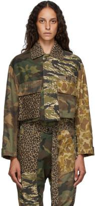 R 13 Multicolor Abu Cropped Jacket