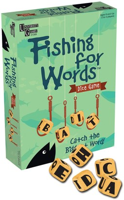 University Games Fishing for Words Dice Game