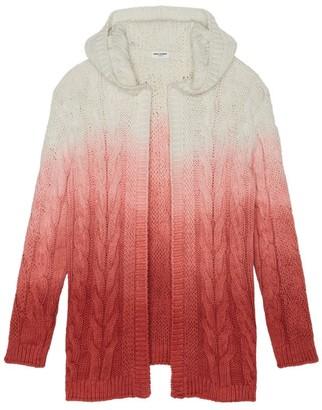 Saint Laurent Ombre Cable-Knit Cardigan