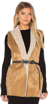 Velvet by Graham & Spencer Royce Vest with Faux Fur Lining