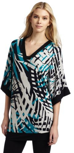 Three Dots Women's Square Neck Tunic