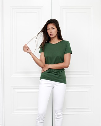 Fite Luxury Tees Cashmere Crewneck Short-Sleeve Top