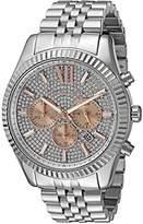 Michael Kors Men's Lexington Silver-Tone Watch MK8515