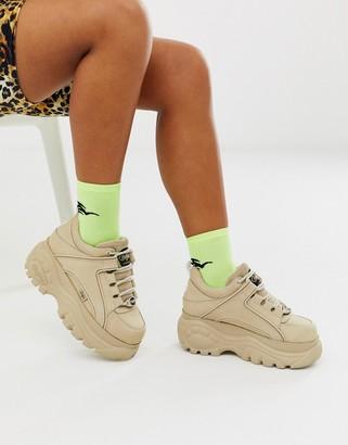 Buffalo David Bitton London classic lowtop platform sneakers in cream