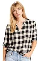 Levi's Women's Skye Checked Splitneck Top