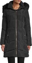 Karl Lagerfeld Paris Faux Fur-Trim Down Parka Coat
