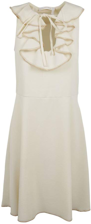 See by Chloe Frilled Neck Skater Dress