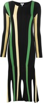 Loewe striped ribbed knitted dress