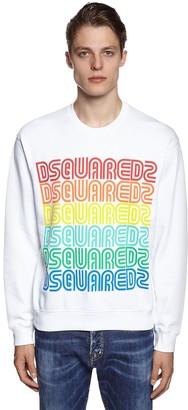 DSQUARED2 Rainbow Printed Cotton Jersey Sweatshirt