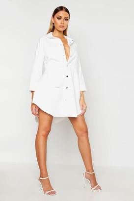 boohoo Utility Pocket Shirt Dress