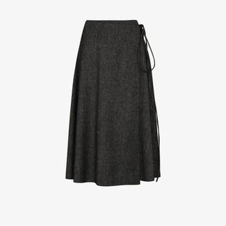 Valentino Wrap Wool Skirt