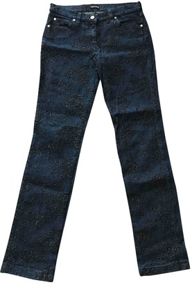 Giorgio Armani Blue Cotton - elasthane Jeans for Women