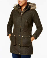 Barbour Helbsy Faux-Fur-Trim Plaid-Lined Jacket