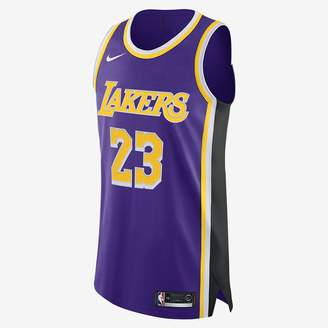 Nike NBA Authentic Jersey LeBron James Lakers Statement Edition
