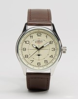 Limit Pilot Leather Watch In Brown