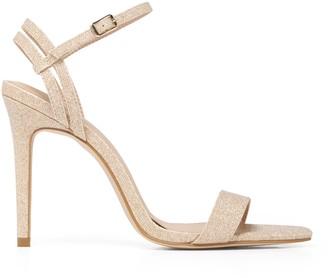 Forever New Emma Strappy Stiletto Heels - Soft Gold Glitter - 36