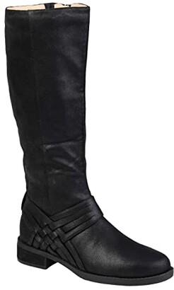 Journee Collection Meg Boot - Wide Calf (Black) Women's Shoes