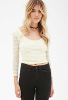Forever 21 FOREVER 21+ Floral Lace Crop Top