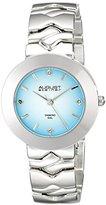 August Steiner Women's AS8157SSBU Silver Quartz Watch with Light Blue Dial and Silver Bracelet