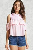 Forever 21 FOREVER 21+ Striped Open-Shoulder Top