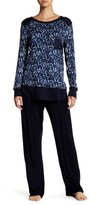 Midnight by Carole Hochman Printed Rib PJ Set